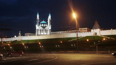 kazan kremlin and kul sharif mosque in russia at n Stock Video Footage
