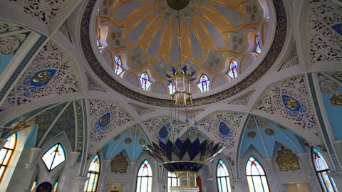 interior of kul sharif mosque - kazan russia Stock Video Footage