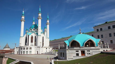 kul sharif mosque in kazan kremlin russia - timela Stock Video Footage