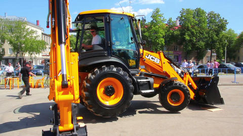 demonstration of multifunctional tractor at the ex Footage