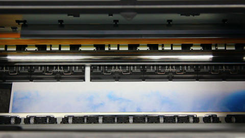 Inkjet printer color photo prints - timelapse Stock Video Footage