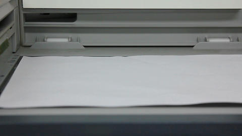 copy of document on photocopier Stock Video Footage
