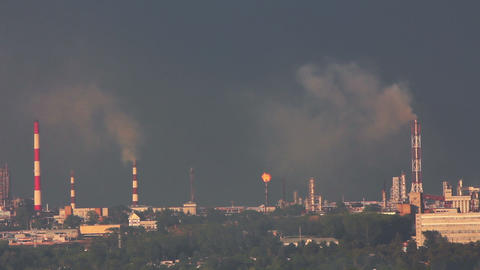 refinery plant - timelapse Stock Video Footage