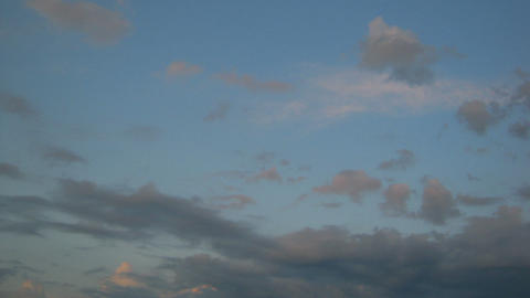 timelapse with evening cloudy sky Stock Video Footage