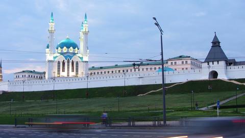 kazan kremlin and kul sharif mosque in russia at e Stock Video Footage