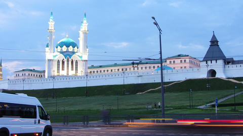 kazan kremlin and kul sharif mosque in russia at e Stock Video Footage