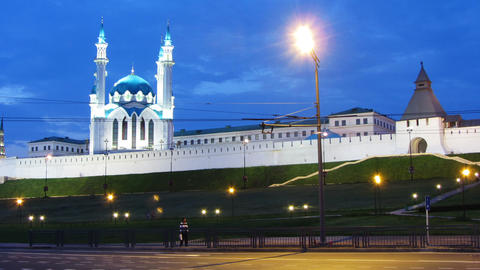 kazan kremlin and kul sharif mosque in russia at e Footage