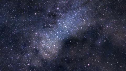 Space journey seamless loop Stock Video Footage