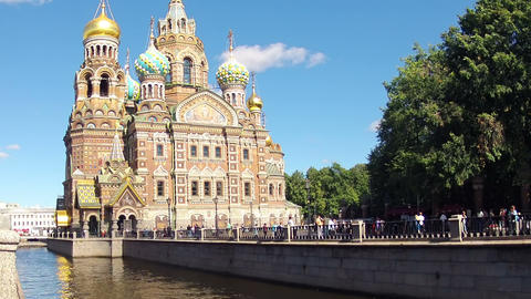 Saint-Petersburg. Church of the Savior on Blood. T Stock Video Footage
