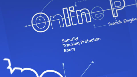 A Blueprint for Online Privacy Stock Video Footage
