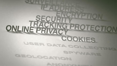 Online Privacy Concept Animation Stock Video Footage