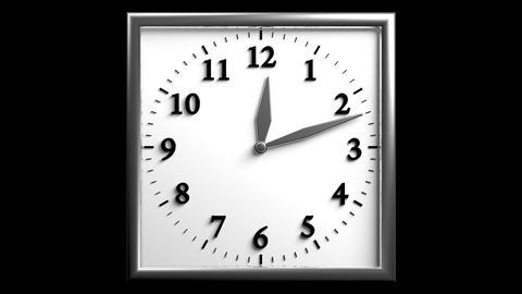 3D Clock 06 Stock Video Footage