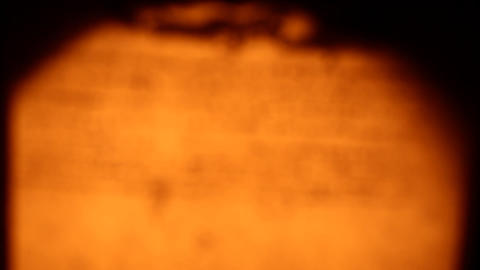 Old paper with old Scripts Stock Video Footage