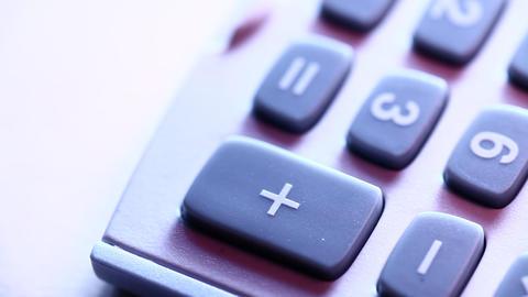 Digital Calculator Stock Video Footage