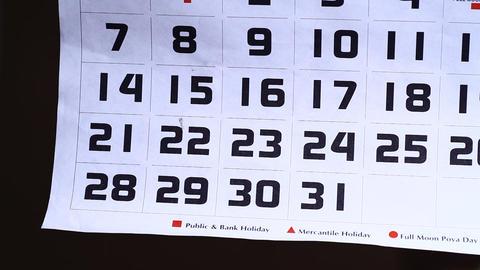 Calendar Stock Video Footage