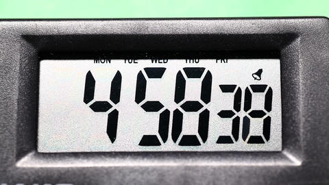 Digital clock Stock Video Footage