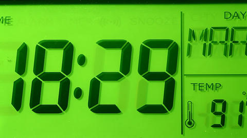 Digital clock Footage