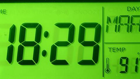 Digital clock Footage