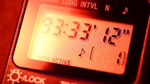 Digital clock Stock Video Footage
