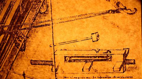 Leonardo da Vinci engineering Footage