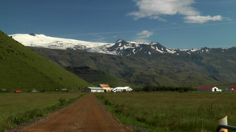 eyjafjallajökull volcano in iceland after eruptio Stock Video Footage
