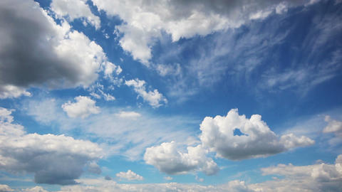 timelapse with beautiful clouds moving Stock Video Footage