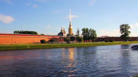 St. Peter and Paul fortress in Saint-Petersburg Ru Footage