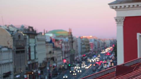 Nevsky Prospekt in the evening Footage
