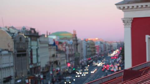 Nevsky Prospekt in the evening Stock Video Footage