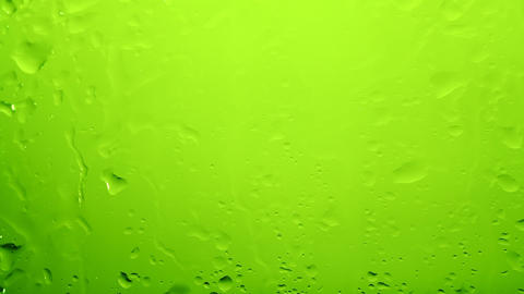 Rain drops down window Footage
