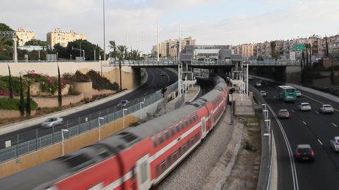 train and public transportation Stock Video Footage