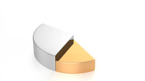 Pie Chart (Gold, Silver, Bronze) Stock Video Footage