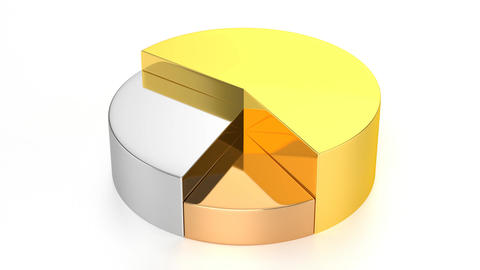 Pie Chart (Gold, Silver, Bronze) Animation