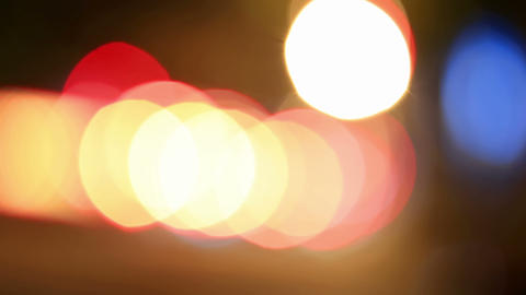 Defocused night traffic lights-Dnepropetrovsk Stock Video Footage