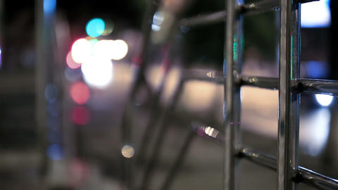 Night Walk In The City 2 Stock Video Footage