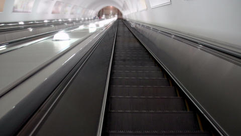 Descend on the escalator HD Footage