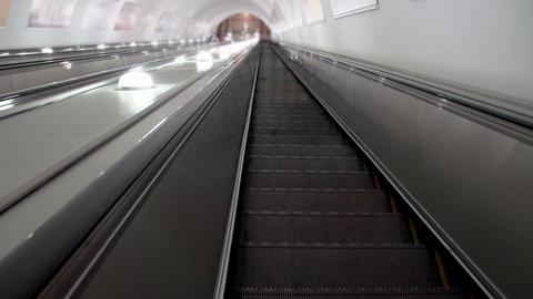 Descend on the escalator HD Footage