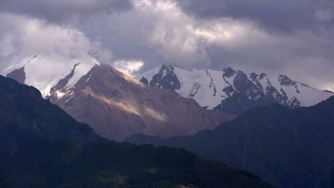 Storm clouds over the mountains HD Stock Video Footage