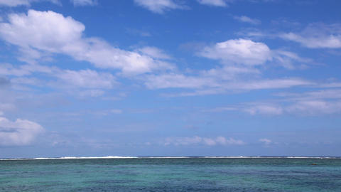 Blue sky and ocean background Stock Video Footage