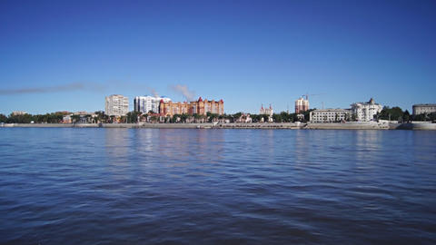 City of Blagoveshchensk on the Amur river Footage