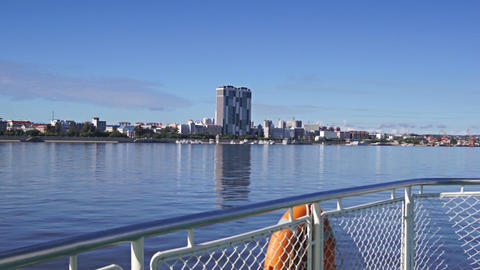 View of Heihe city from the Amur river 07 Stock Video Footage