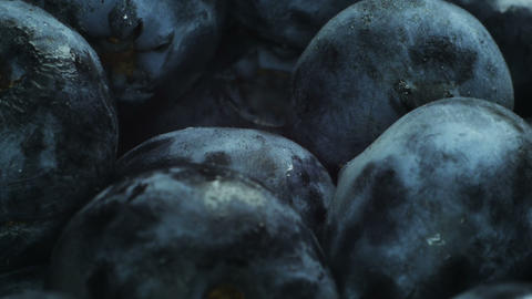 Huge blueberries Stock Video Footage