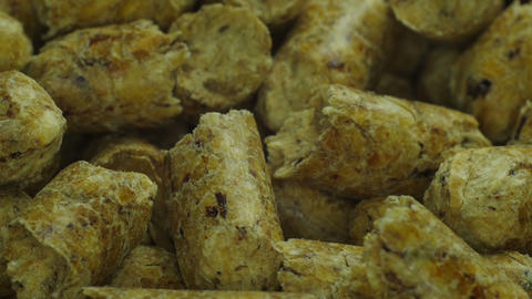 Wood Pellet stock footage