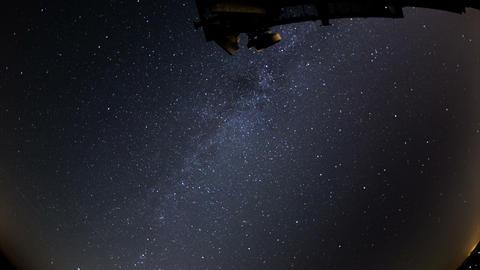 UHD 4k radio telescope air traffic time laps Stock Video Footage