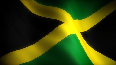Flag of Jamaica Stock Video Footage