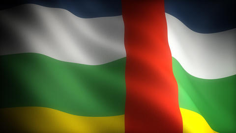 Flag of Central Africa Stock Video Footage