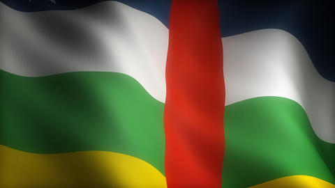 Flag Of Central Africa stock footage