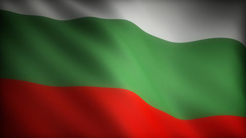 Flag of Bulgaria Stock Video Footage