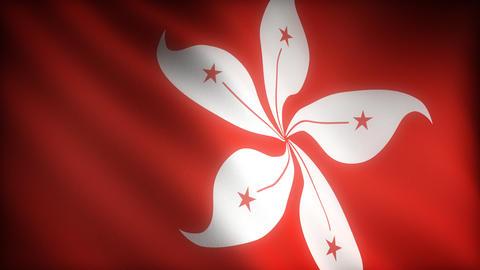 Flag of Hong-Kong Stock Video Footage