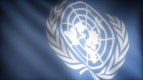Flag of United Nations Stock Video Footage